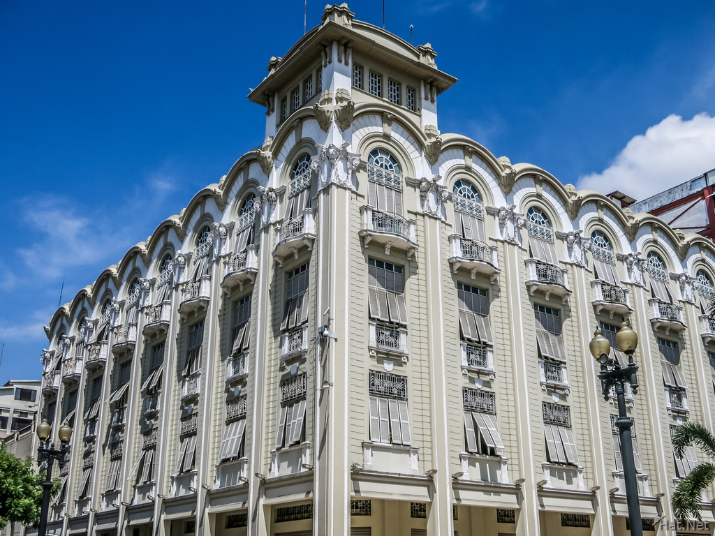 colonial building in central guayaquil