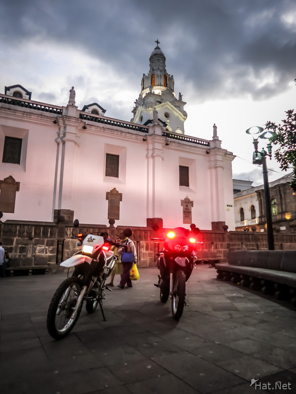 quito police bike near plaza grande