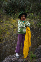 Mary the Andean girl who have a little lamb Chugchilan,  Cotopaxi,  Ecuador, South America
