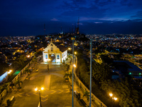 Las Penas Chapel at Night Guayaquil, Ecuador, South America