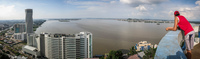 Guayaquil river Panorama from Las Penas Guayaquil, Ecuador, South America