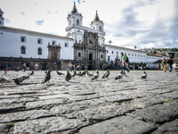 Plaza San Francisco Quito, Pichincha province, Ecuador, South America
