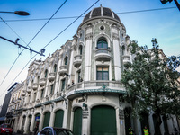 Colony building near Guayaquil avenue Quito, Pichincha province, Ecuador, South America