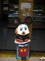 Micky Mouse Garbage Can Latacunga, Riobamba, Colopaxi Province, Ecuador, South America