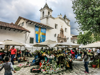 Flower market of cuenca Cuenca, Ecuador, South America