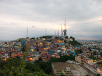 View from Las Penas Top Guayaquil, Ecuador, South America