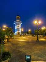 Light Tower of Las Penas at Night Guayaquil, Ecuador, South America