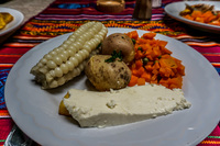 Veggie Lunch near Ingaprica Cuenca, Ecuador, South America